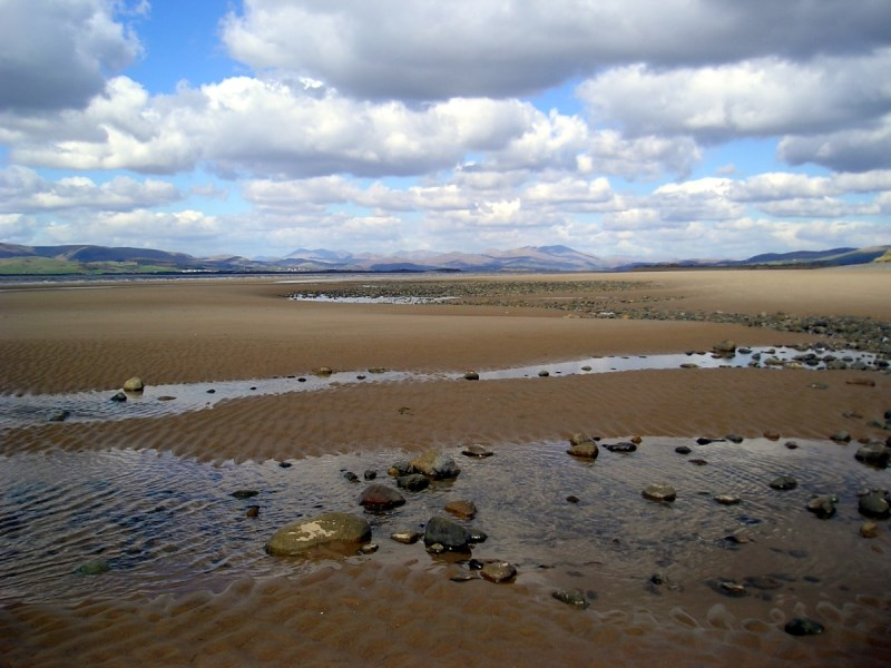 Across Duddon sands to the Lakes