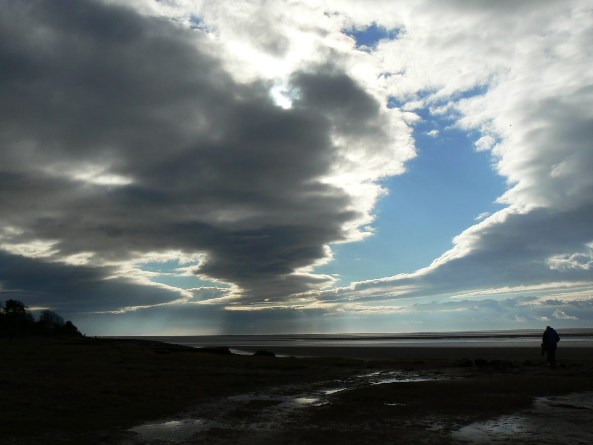 Limitless sky at Silverdale beach